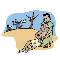 good samaritan vector image