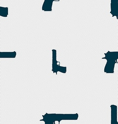 gun icon sign Seamless pattern with geometric vector image