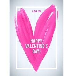 HAPPY VALENTINE S DAY Stroke heart and white vector image