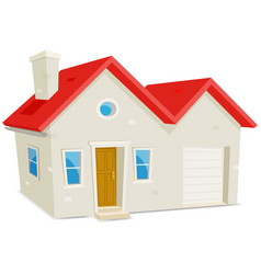 House and garage vector