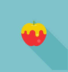 icon of apple with honey vector image