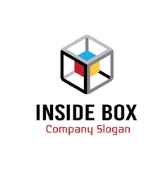 Inside box design vector