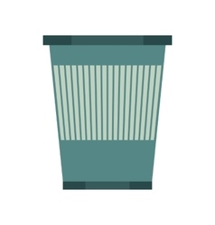 Kitchenware garbage basket icon flat style vector image
