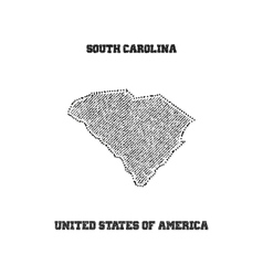 Label with map of south carolina vector