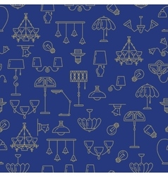 Lamp seamless pattern lighting icon Brand vector