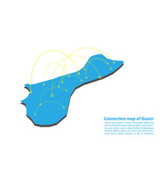 Modern of guam map connections network design vector
