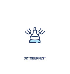 Oktoberfest concept 2 colored icon simple line vector