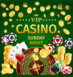 online casino gambling with roulette and poker vector image