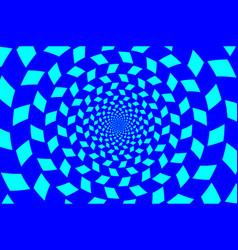 optical - chessboard swirl vector image