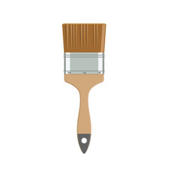 Paint brush in flat style vector