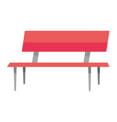 park bench cartoon vector image