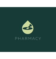 Pharmacy logo design Health care medical vector