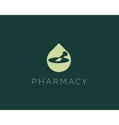 Pharmacy logo design health care medical vector