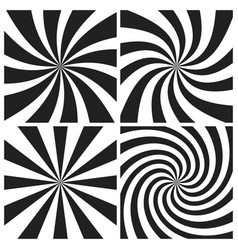 Psychedelic spiral with radial gray rays swirl vector