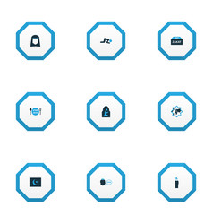 Religion icons colored set with beg menu zakat vector