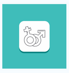 round button for gender venus mars male female vector image