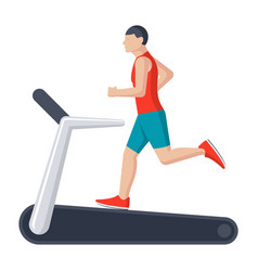 Running on treadmill vector