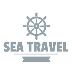 sea travel logo simple gray style vector image