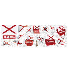 Set flags american state vector
