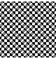 Square and spiral 2 seamless pattern vector image