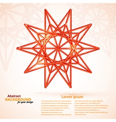 Star on a bright abstract background vector image
