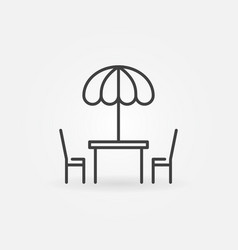 street cafe icon in thin line style vector image