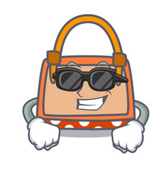Super cool hand bag character cartoon vector