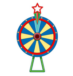 Target board with star on white background vector
