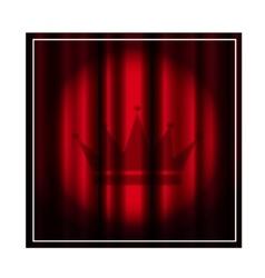 Theater curtain with spotlight vector