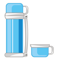 Thermos for liquid vector