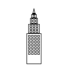 Tower Building of City design vector