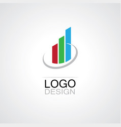 trading business logo vector image