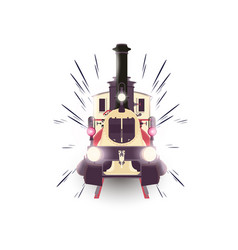 train icon locomotive travel railway vector image