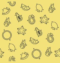 Tropical fruit concept icons pattern vector
