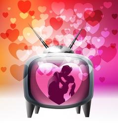 Tv spreading love around vector