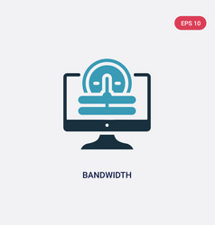 two color bandwidth icon from web hosting concept vector image