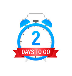 Two days to go sign stock vector
