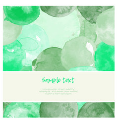 Watercolor green greeting card vector