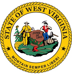 West Virginia seal vector image