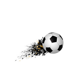 white and black soccer football with geometric vector image