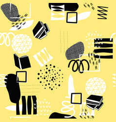 yellow geometric abstract seamless pattern vector image