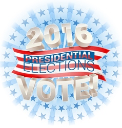 2016 presidential election in usa vector image