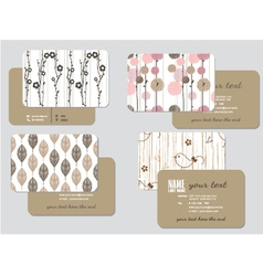 business card template wedding style ill vector image vector image