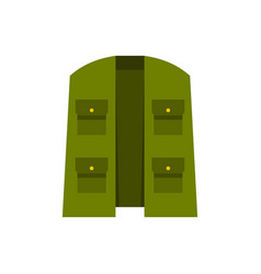green hunter vest icon flat style vector image