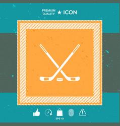 hockey symbol icon vector image
