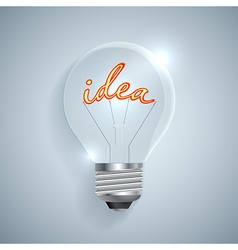 Lightbulb with Idea sign on a light background vector image vector image