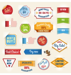 sale labels set2 vector image vector image
