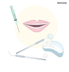 Set of Dentist Tools for Oral Cavity vector image vector image