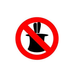 Stop tricks Ban to do magic tricks Frozen cylinder vector image