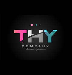 thy t h y three letter logo icon design vector image